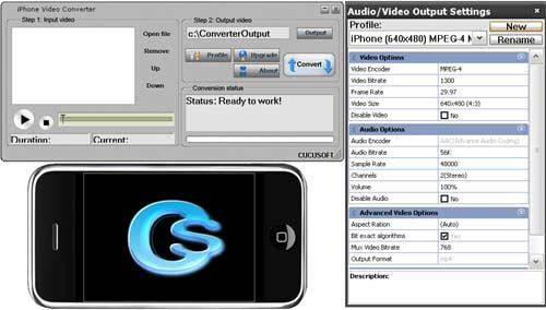 It can convert almost any video format to play on your iPhone, e.g. DivX, XviD,